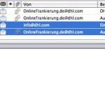 Eine E-Mail in Entourage kann nicht gelöscht werden – das Programm stürzt ab, sobald man sie auswählt.