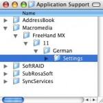In FreeHand MX fehlen eine oder mehrere Paletten.