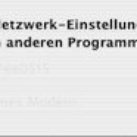 """Fehlermeldung: """"Ihre Netzwerkeinstellungen wurden von einem anderen Programm geändert."""""""
