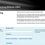 Wie kann ich mich auf der Adobe Licensing Website einloggen ? Ich habe von Adobe keine Zugangsdaten bekommen.
