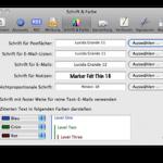 In Apple Mail werden nur die angehängten Dateien angezeigt, aber keine Betreffzeilen und kein Text.