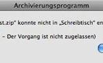 """Fehlermeldung beim Entpacken einer Zip-Datei: """"Fehler 1 – Der Vorgang ist nicht zugelassen"""""""