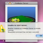 "Filemaker Server 5.5 Fehlermeldung: ""Unable to start server. Another instance of FileMaker Server is already running."""
