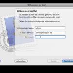 """Apple Mail zeigt beim Starten plötzlich das """"Willkommen""""-Fenster, vorhandene Email-Accounts werden nicht mehr erkannt."""