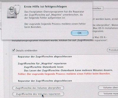 Mac os konnte auf diesem computer nicht installiert werden