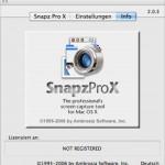 Nach Migration auf Mac OS X 10.6 funktioniert die Lizenzierung von SnapzPro X nicht mehr.