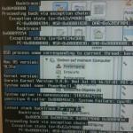 Powermac G5 friert nach dem Start ein, UNIX-Fehlermeldungen auf dem Bildschirm