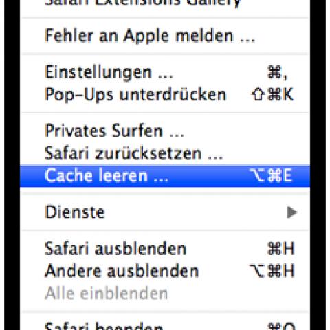 cache leeren mac safari