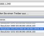 Xerox DocuColor 252 druckt nicht unter Mac OS X 10.5, obwohl die aktuelle Treibersoftware installiert ist.