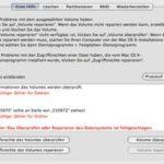 """Fehlermeldung im Festplatten-Dienstprogramm: """"Ungültiger Zähler für Dateien"""""""