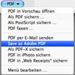 Mac OS X 10.6 und der Adobe PDF-Drucker