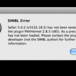 """Fehlermeldung beim Start von Safari: """"SIMBL Error"""""""