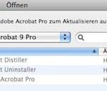 Das aktuelle Acrobat Pro Update läßt sich nicht installieren, das Programmsymbol ist ausgegraut.