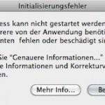 """QuarkXPress 7 läßt sich nach Neuinstallation nicht starten, die Komponente """"Color Manager.qrc"""" kann nicht geladen werden."""