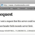 """Eine Webseite kann in Safari nicht aufgerufen werden, Fehlermeldung: """"400 Bad Request"""""""