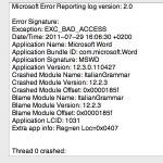 Word 2008 stürzt beim Öffnen einer bestimmten Datei jedesmal ab.