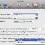 Standard-Konto in Mail, Entourage und Outlook festlegen