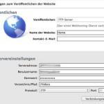 """iWeb Fehlermeldung beim Veröffentlichen: """"Fehler bei der Kommunikation mit dem FTP-Server"""""""