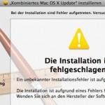 Das Combo-Update auf Mac OS X 10.6.x läßt sich nicht installieren.