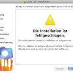 """Fehlermeldung bei der Installation von iLife 11: """"Ein unbekannter Installationsfehler ist aufgetreten."""""""