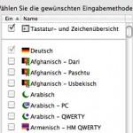 Auf der Apple Alu-Tastatur sind die Tasten < und ^ vertauscht.