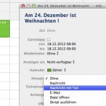 Email-Wiedervorlage mit Apple Mail und iCal