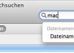 In Mac OS X 10.8 stürzt der Finder beim Suchen ab