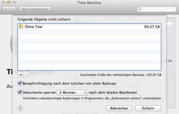 TimeMachine_Optionen