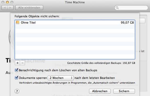 TimeMachine_Optionen
