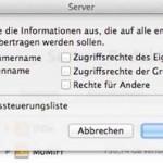 OS X Server 10.8: Übertragung und Vererbung von Zugriffsrechten