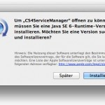 """Fehlermeldung nach Systemupdate: Um """"CS4ServiceManager"""" öffnen zu können, müssen Sie eine Java SE 6-Runtime-Version installieren."""