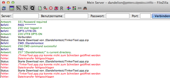FileZilla_Downloadfehler