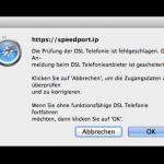 """Fehlermeldung beim Einrichten von DSL-Telefonnummern: """"Die Prüfung der DSL Telefonie ist fehlgeschlagen."""""""