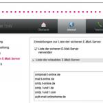Nach Inbetriebnahme oder Reset eines Speedport-Routers können keine Emails versendet werden
