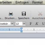 """In Word 2011 fehlt der Menüpunkt """"Datei"""""""