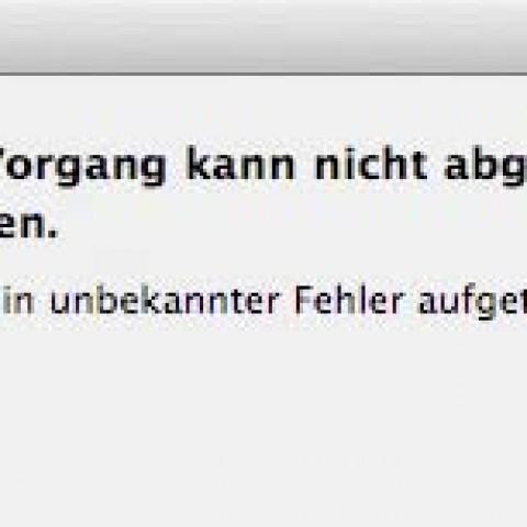 """Fehlermeldung beim Schreiben auf OS X Server: """"Es ist ein unbekannter Fehler aufgetreten (Fehler -50)"""""""