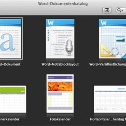 Vorlagendateien in Office 2011 löschen