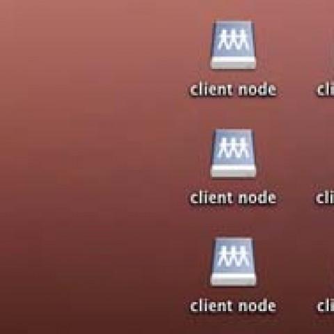 """Auf dem Schreibtisch liegen Dateien mit dem Namen """"client node"""""""