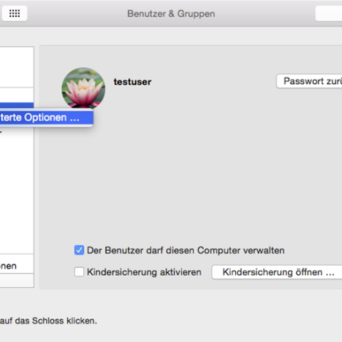 Benutzername, Accountname und Benutzerordner in Mac OS X umbenennen