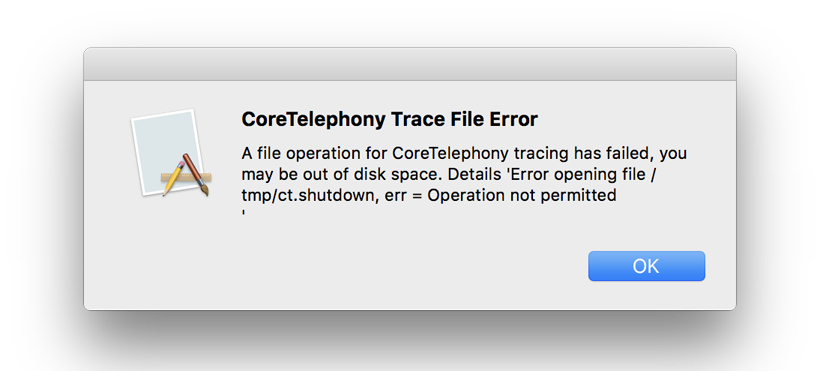 CoreTelephony_Trace_File_Error