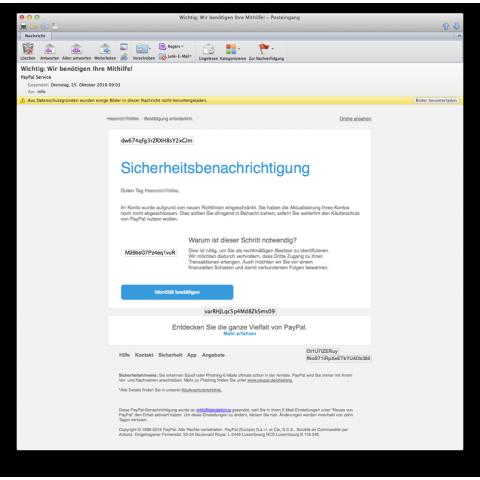 Woran erkennt man eine Phishing-Mail ?