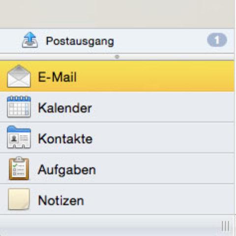 """Outlook 2011 """"hängt"""" beim Senden von Emails – der Ordner Postausgang ist aber nicht vorhanden"""